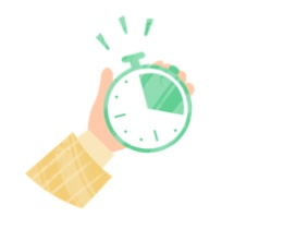 Simple time tracking icon