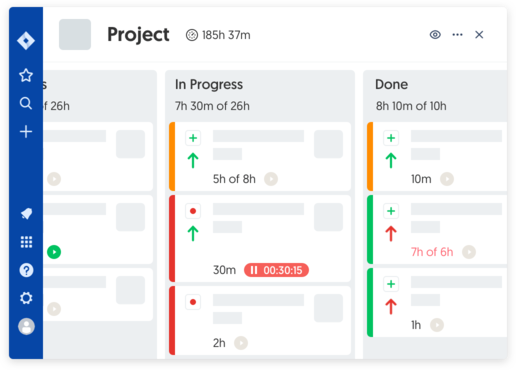 Jira time tracking project board