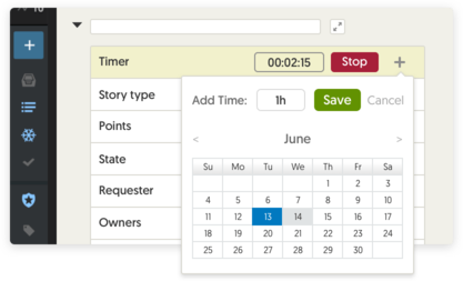 Pivotal time tracking project board