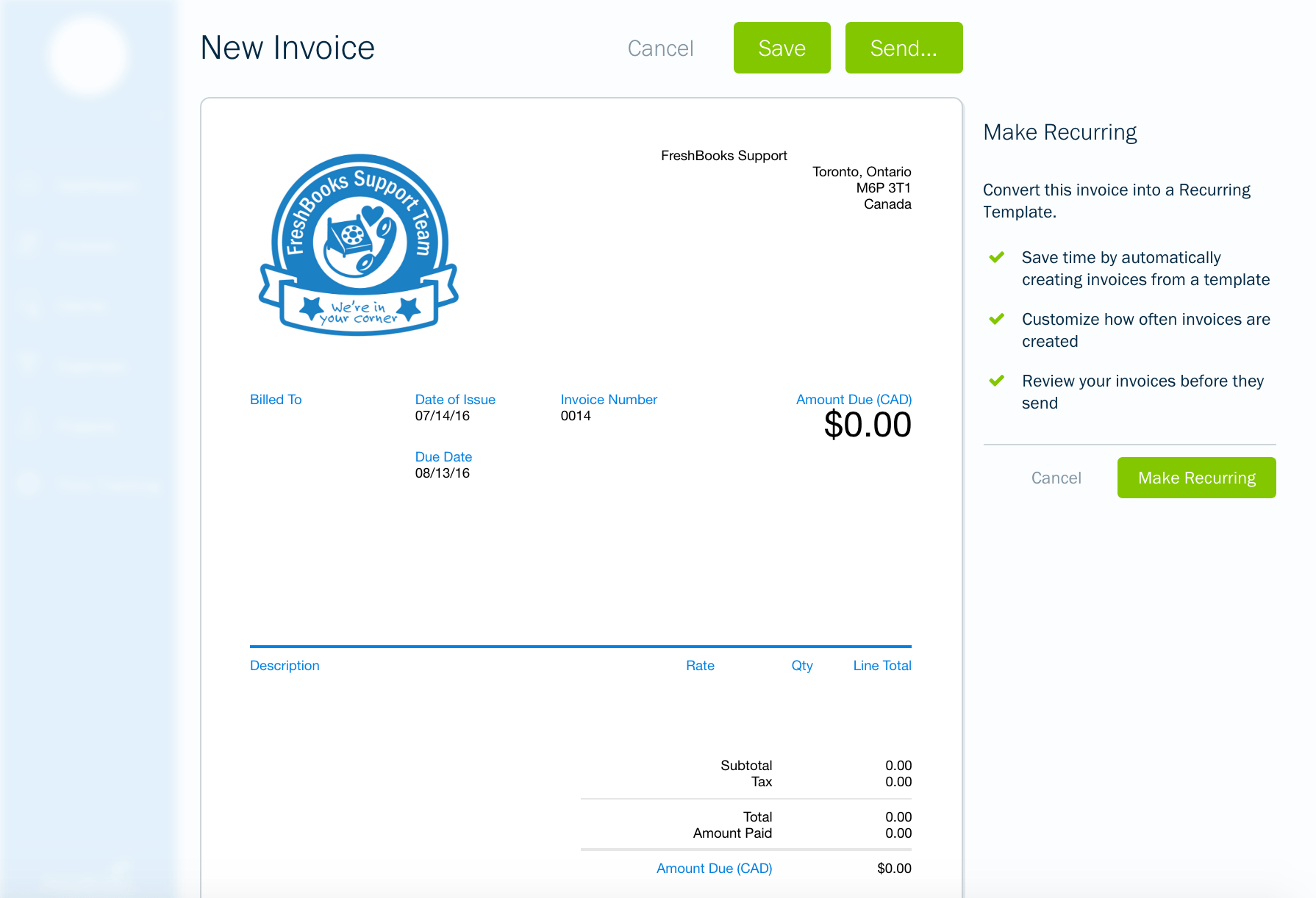 Billing And Invoicing Software   Freshbooks  Freshbooks Free Invoice