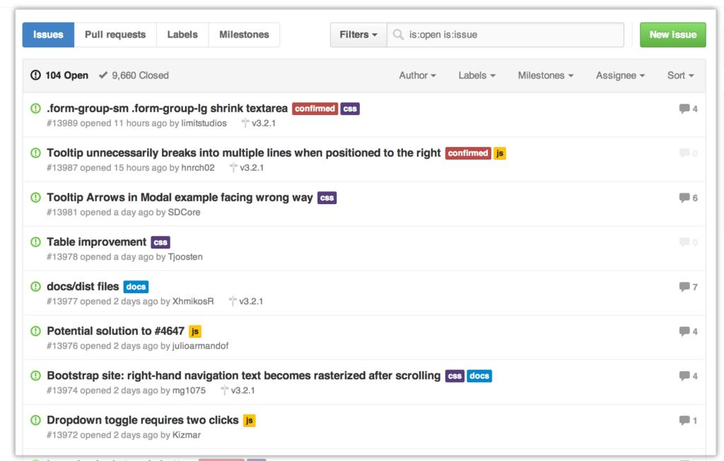 bug tracker - GitHub